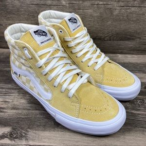 NEW Vans Sk8-Hi Pro Checkerboard Banana Peel Shoes
